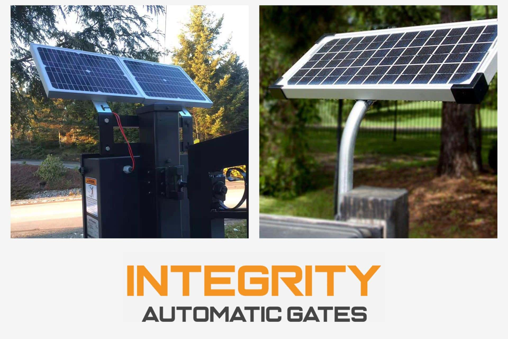 Solar Gate Openers - Integrity Automatic Gates